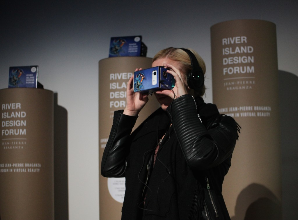 Google cardboard at Fashion Week