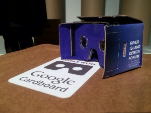 River Island Google cardboard headset