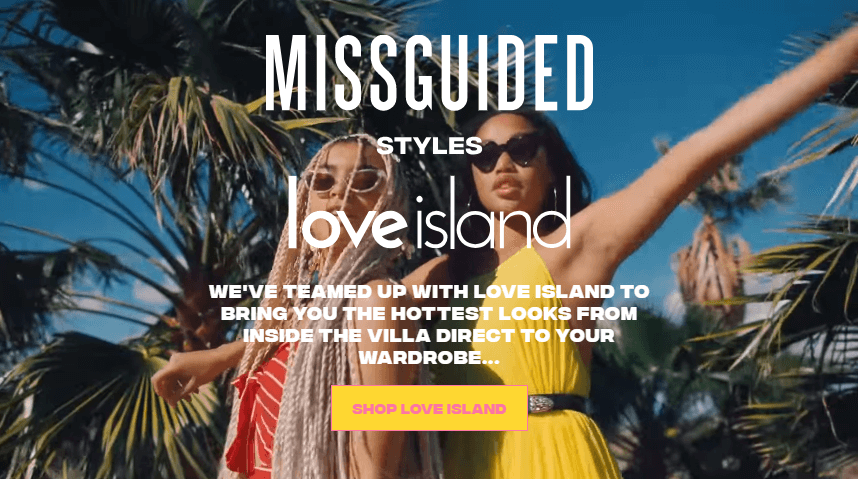 missguided styles love island