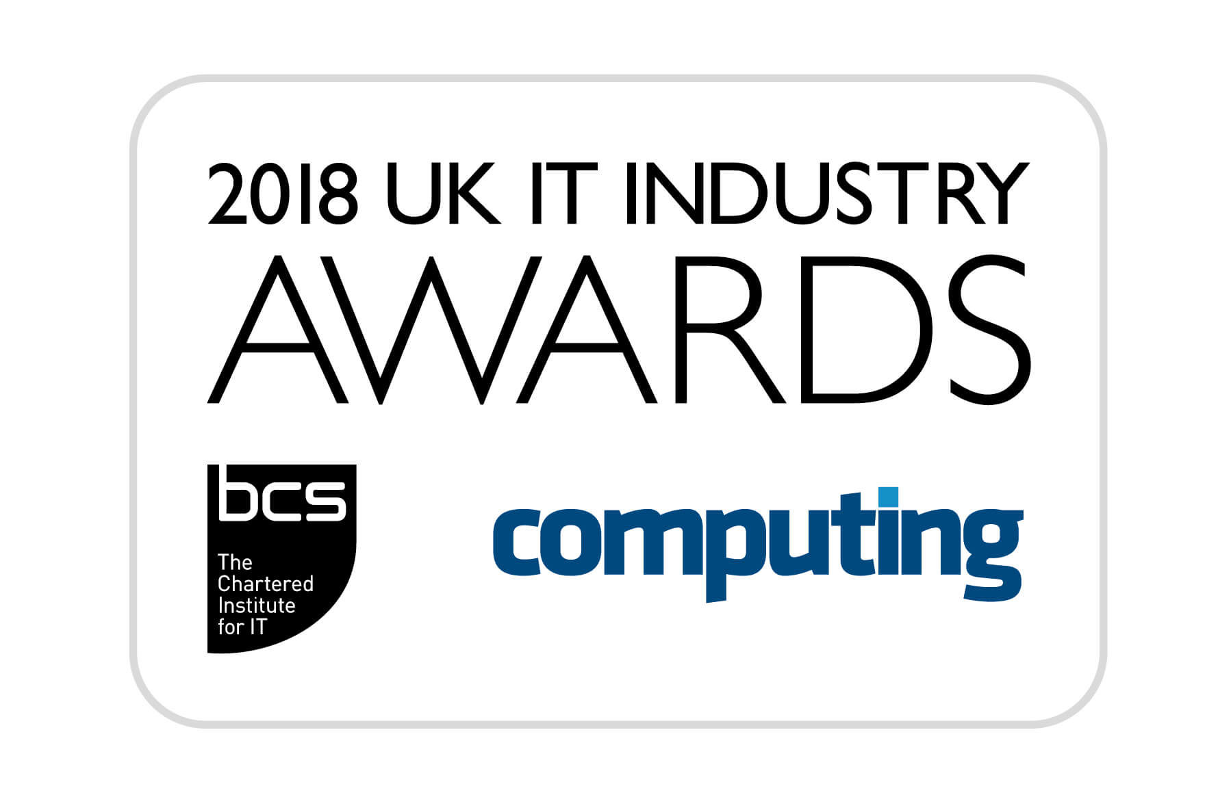 BCS UK IT Industry Awards Finalist 2018