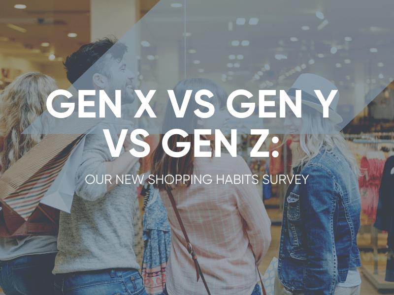Gen X vs Gen Y vs Gen Z Shopping Habits Survey