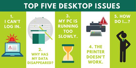 Top 5 Desktop Support Issues