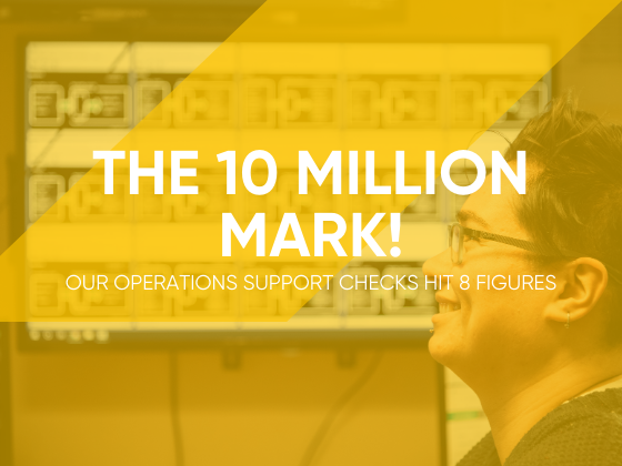 Our Operations Support Checks reach 10 million